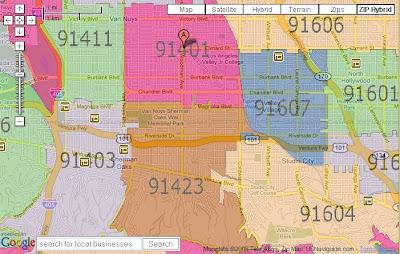 Zip Code Map San Fernando Valley | Zip Code MAP