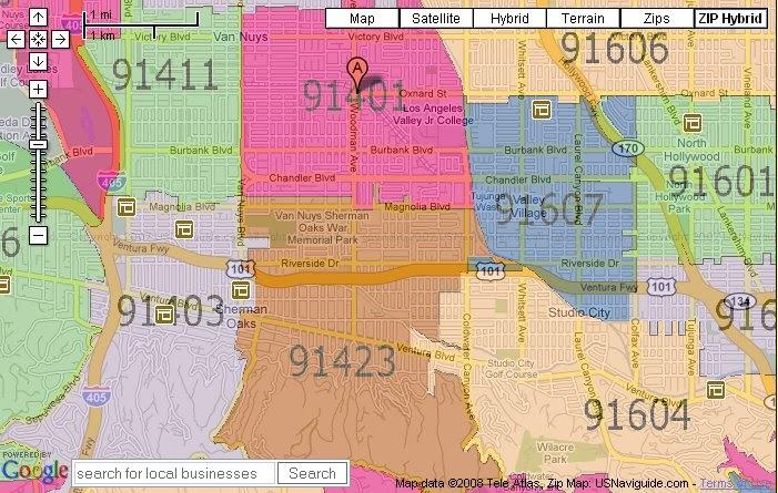 Zip Code Map Burbank 91506