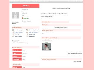 Plain myspace default layouts