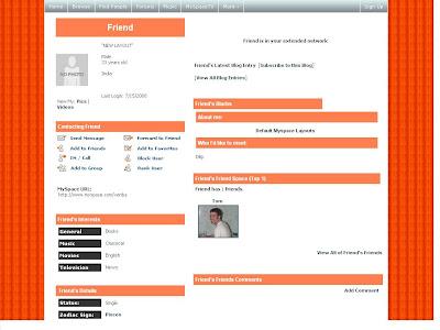 Plain Default Myspace Layouts