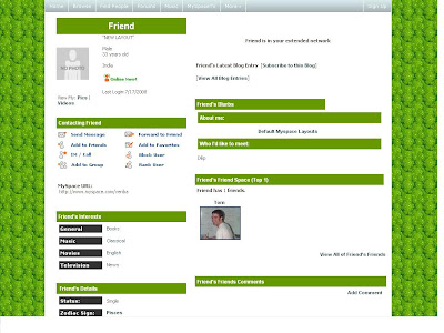 Default Layouts for Myspace