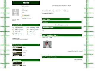 Myspace Default Layouts