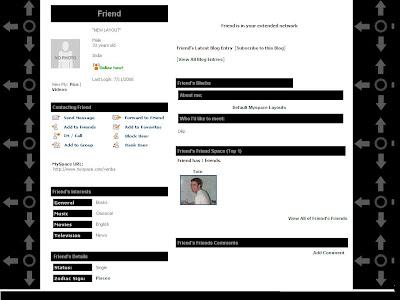 Black Default Layouts For Myspace