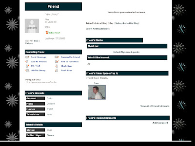 Black Default Myspace Layouts