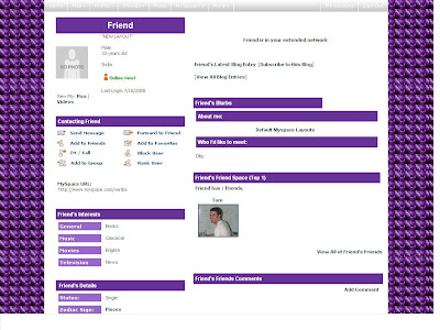 Default Layouts For Myspace