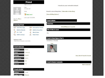 Black Default Layout For Myspace
