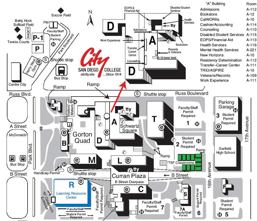 San go City College Campus Map | International Map Ccsf Ocean Campus Map on ccsf wellness center, ccsf rams logo, university of san francisco campus map,