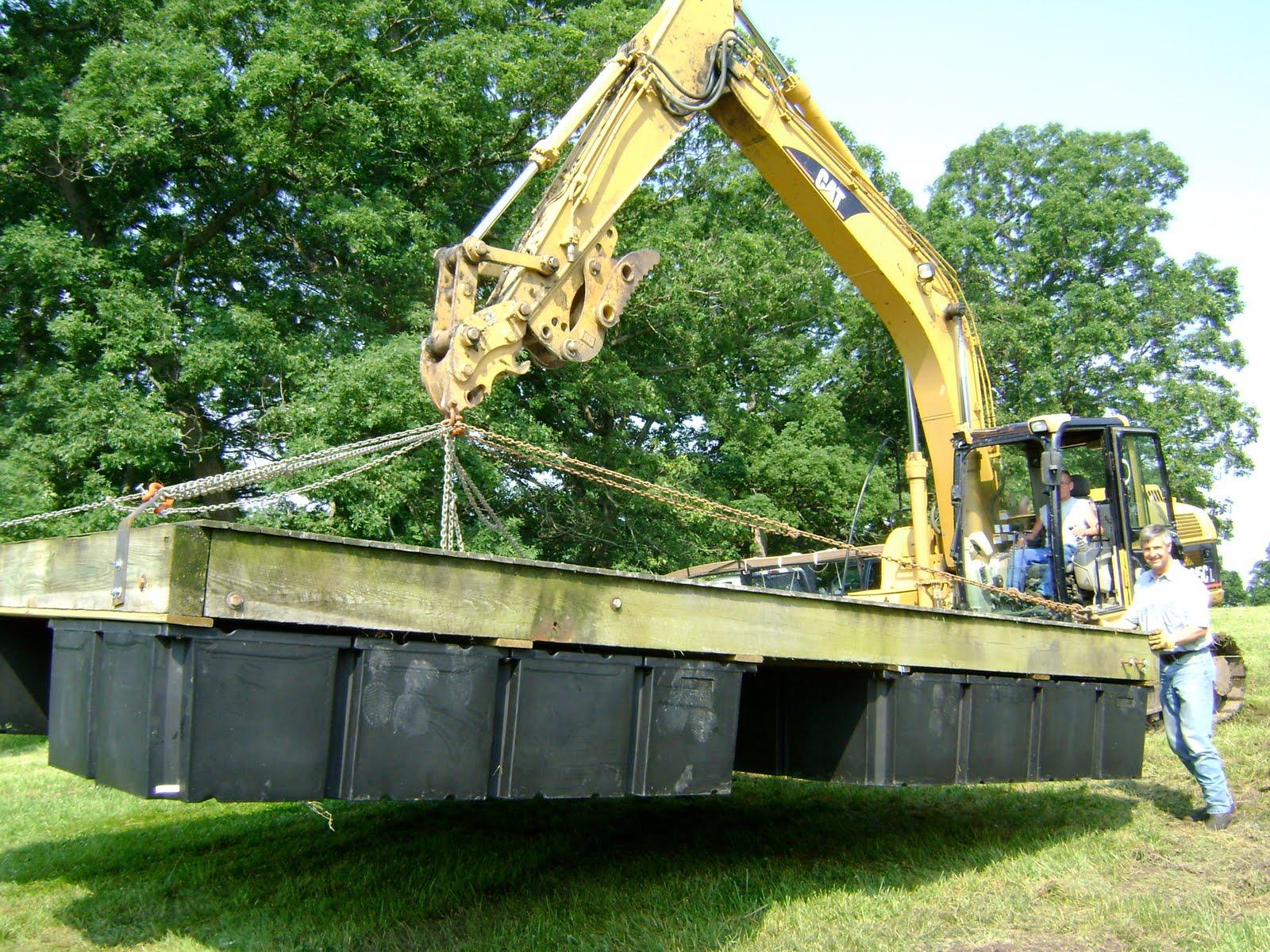 Herman Brothers Blog: Building Floating Docks