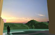 松山腳望向燈塔(現況)