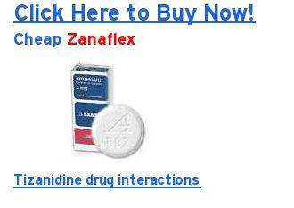 Tizanidine Medication Interactions
