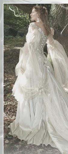 Wedding Gown Bridal Gown Medieval Celtic Irish Wedding Dress