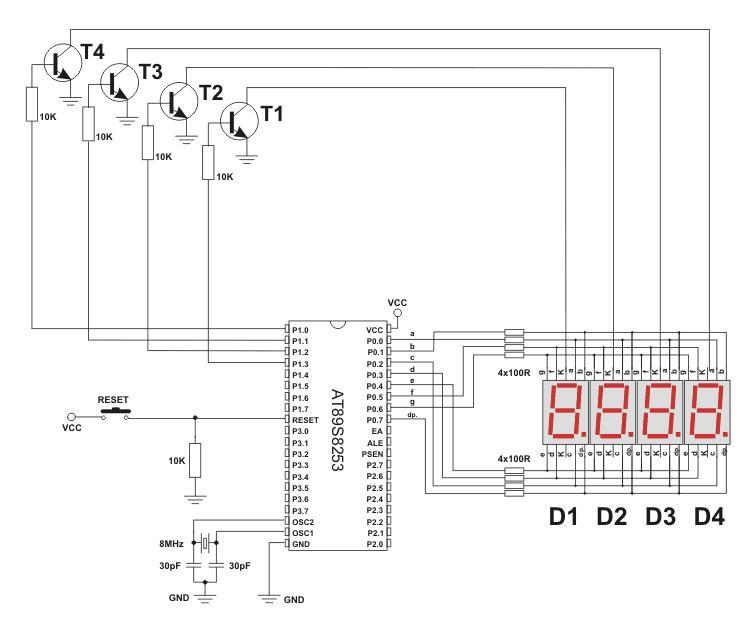 8051 Interfacings  7 Segment Display