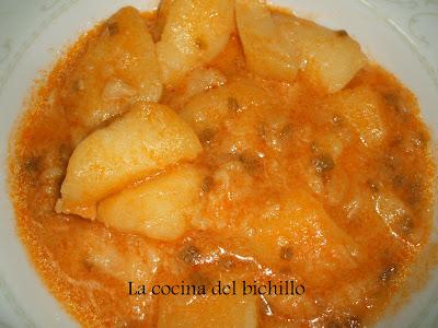 La cocina del bichillo guiso de patatas con bacalo - Cocinar bacalao desalado ...