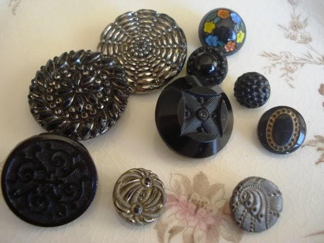 Glass victorian buttons