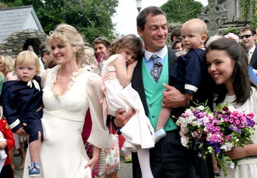 Dominic West with wife Catherine Fitzgerald and children at their wedding