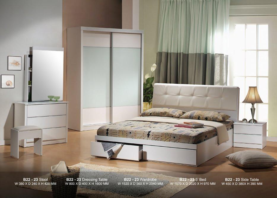 Set Bilik Tidur Aku Kaler Putih