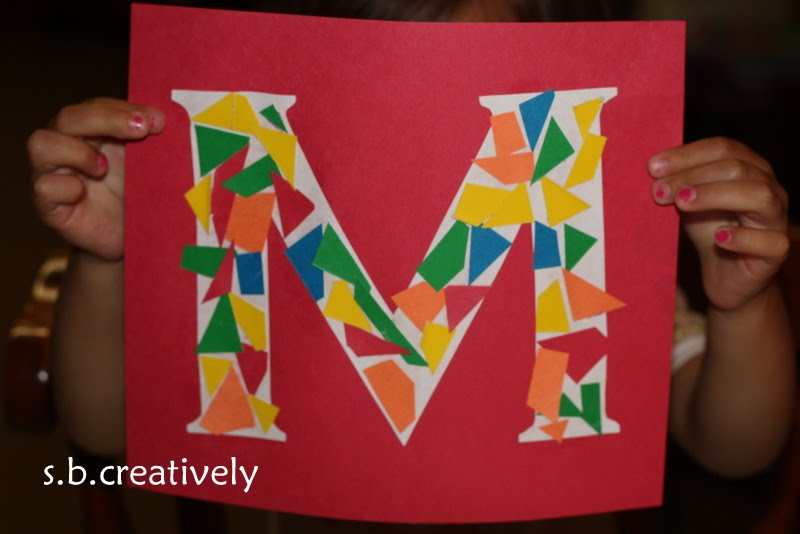 s b creatively: M is for Mosaic