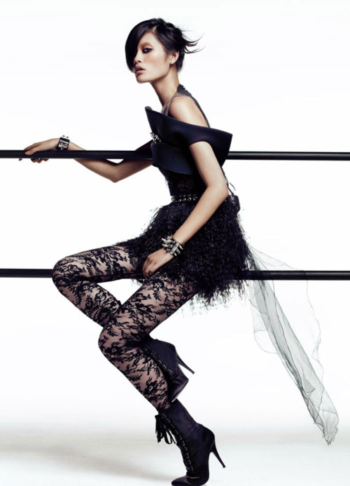 Stripy Tights and Dark Delights: When Goth meets high fashion