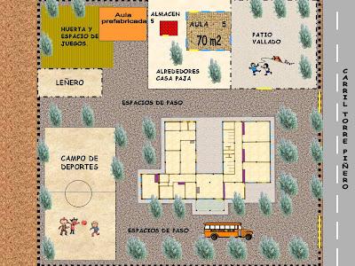 Escuela infantil plano de edificio y exteriores for Plano escuela infantil