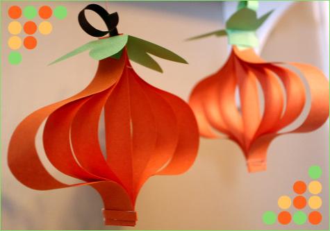Paper Pumpkin Arts And Crafts