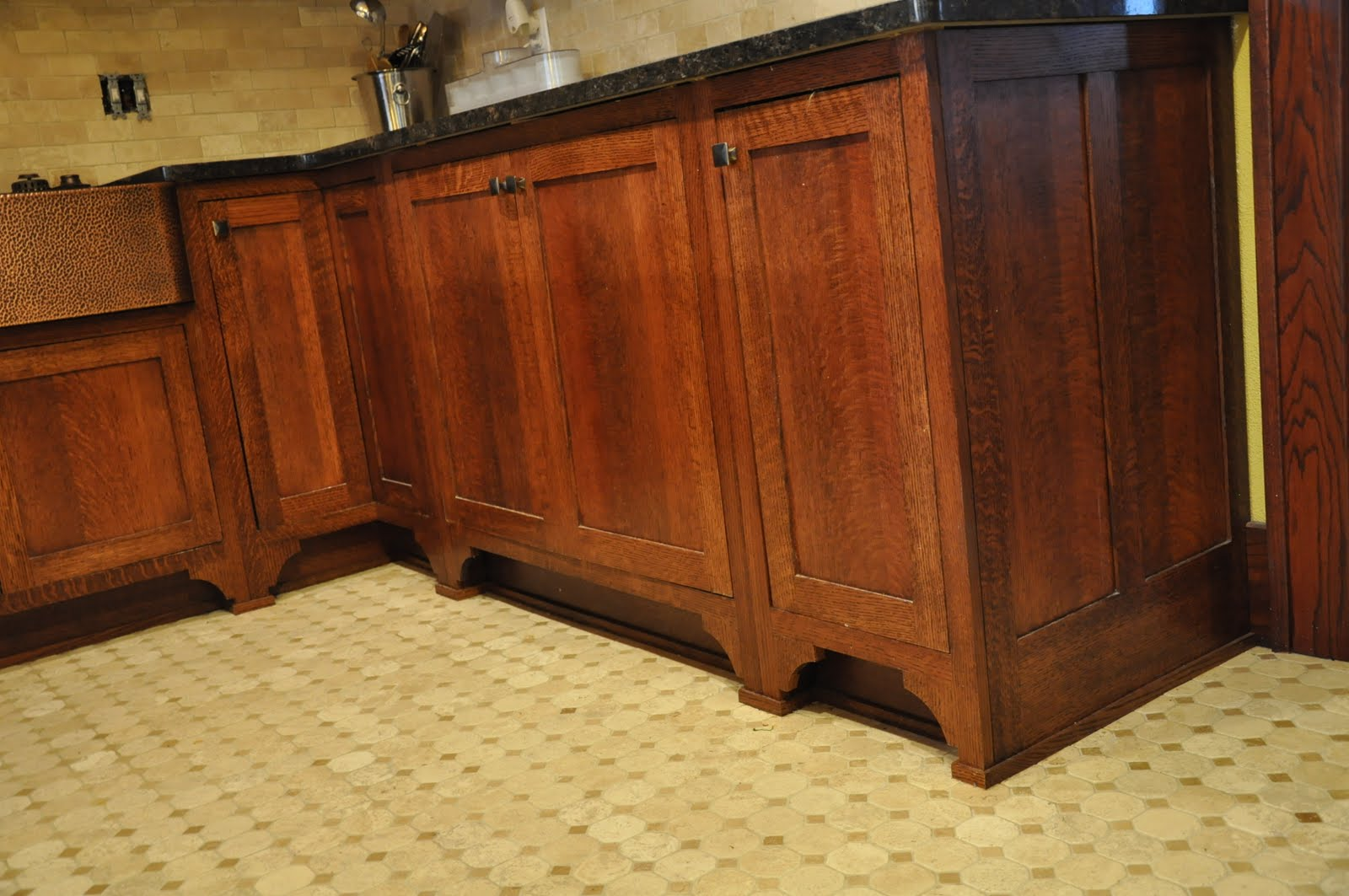 Quarter Sawn Oak Cabinets