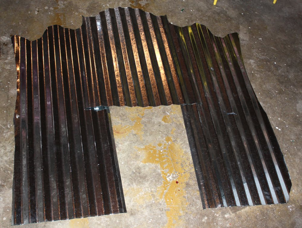 abby: DIY Corrugated Metal Headboard