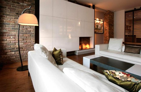 Contemporary Vent Free Natural Gas Fireplace