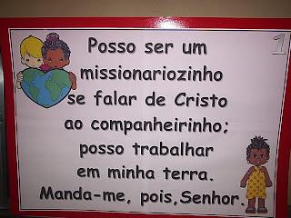 posso ser um missionariozinho
