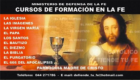 -- CURSOS DE FORMACION EN LA FE --