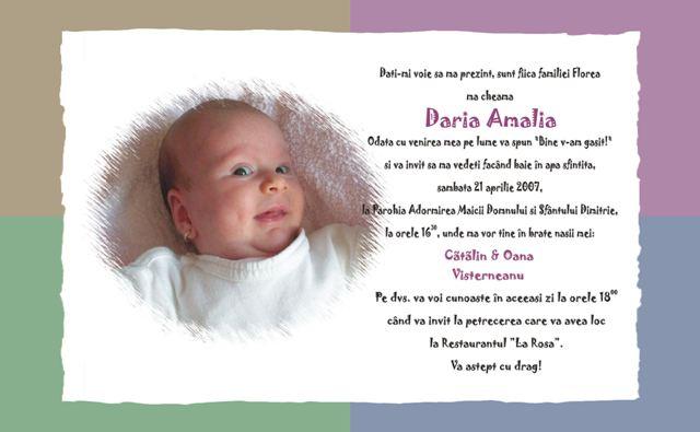 Gazeta De Vise Nou Invitatii Botez Pentru Email