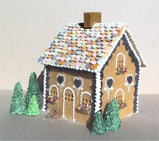 Gingerbread house made from soap
