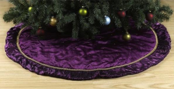 Purple Velvet Tree Skirt 11
