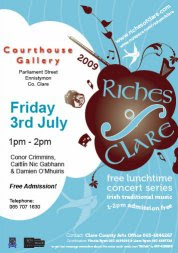 Riches Of Clare concert at Courthouse Gallery Ennistymon