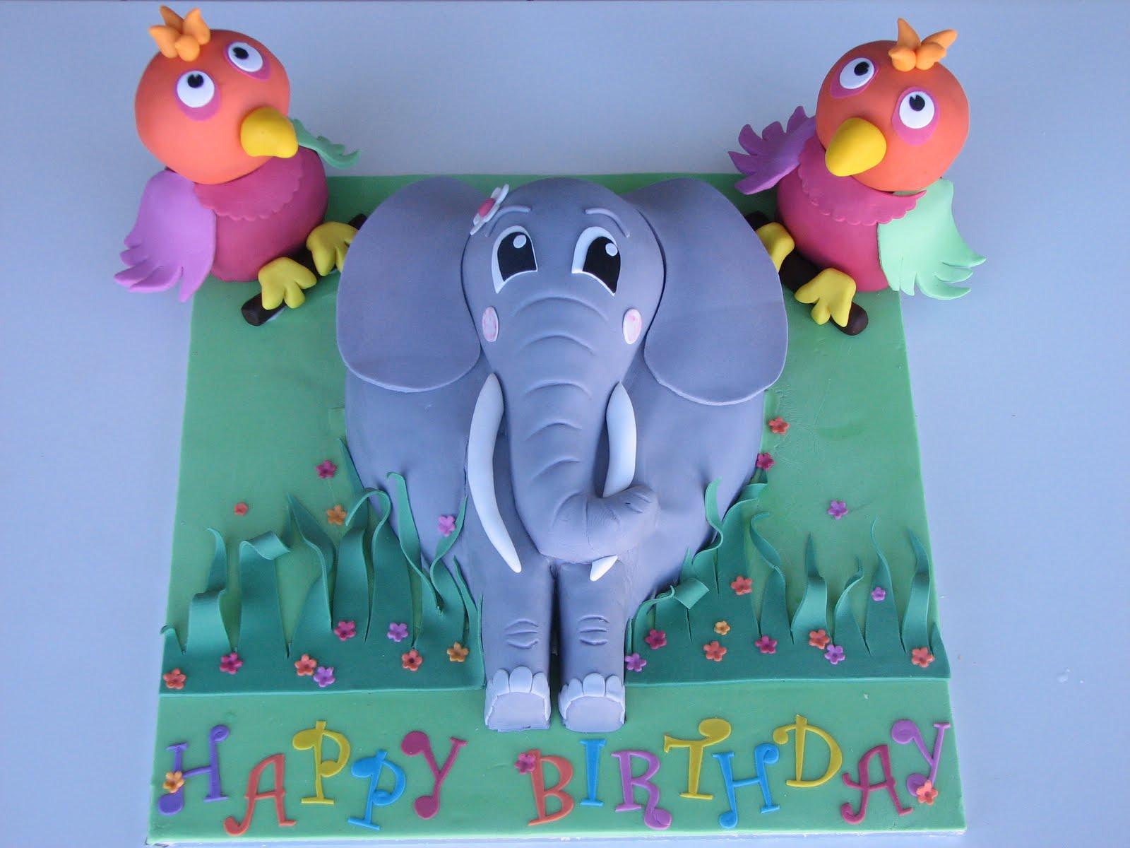 Sugar Creation: Elephant cake