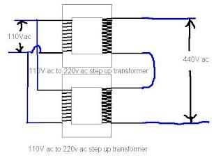 110v to 220v transformer Schaltplang