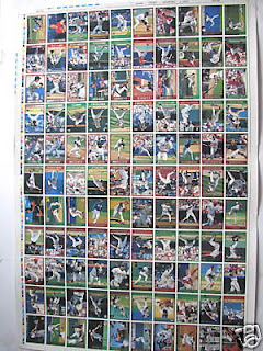 Cardboard Mania Card Of The Day 1997 Topps Uncut Sheet