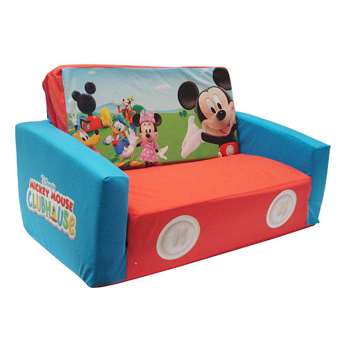 sesame street flip open sofa with slumber bag tan sleeper weekend review - toddler fold-out couch