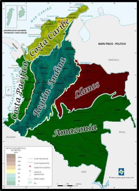 Regiones Geográficas de Colombia