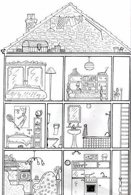 la trousse de fran ais la maison dessin imprimer. Black Bedroom Furniture Sets. Home Design Ideas