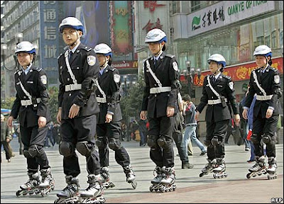 Chinese Rollerblade Police