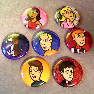 Theater Hopper Cast Buttons