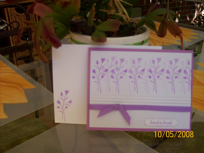 Pocket Silhouettes in lilac.... World Card Making Day 10/4/08