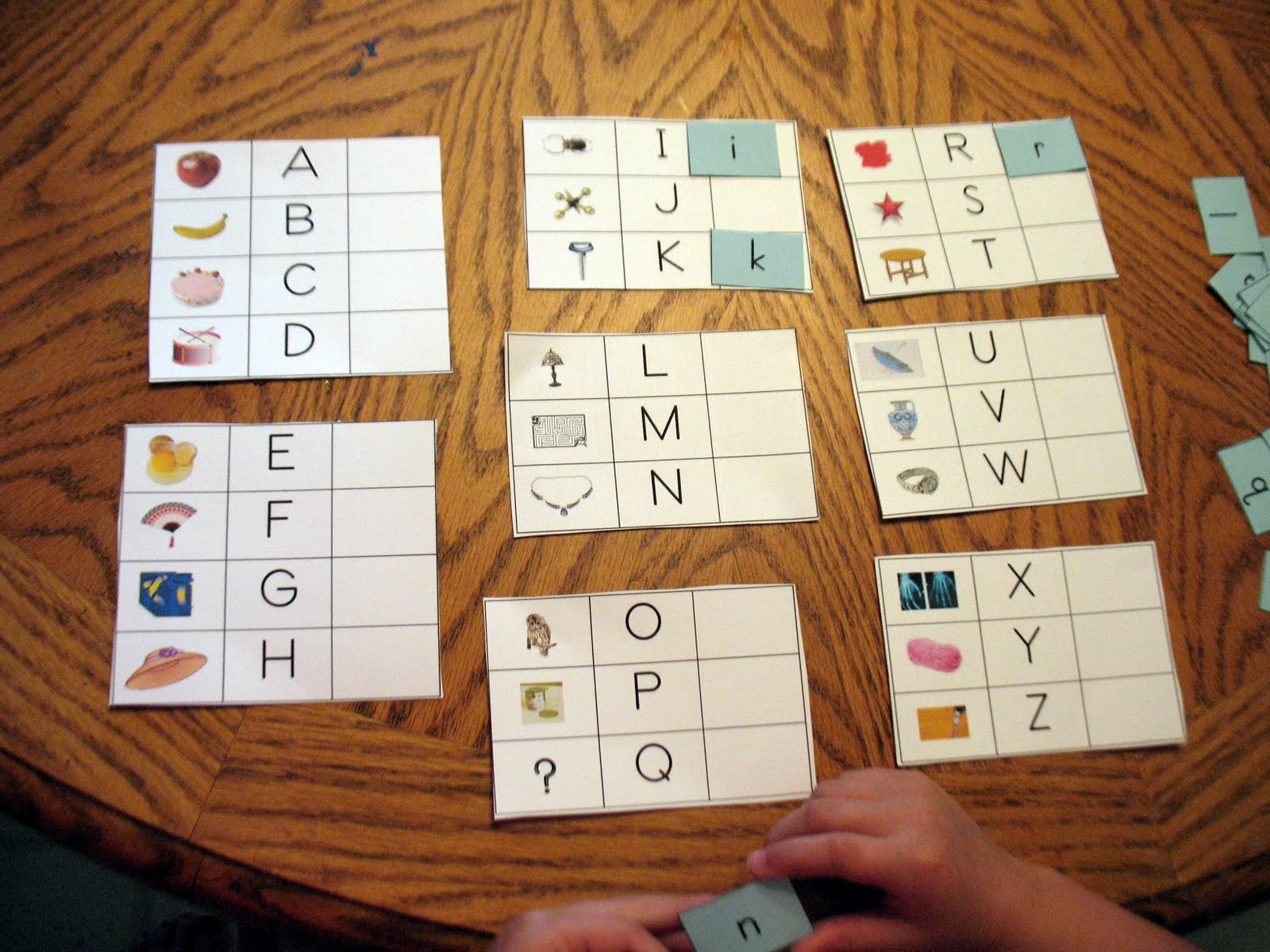 Montessori For Learning Upper Case And Lower Case Letter