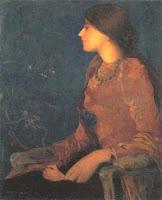 Edmond Aman-Jean - Ritratto di Thadéee Caroline Jacquet (1892)
