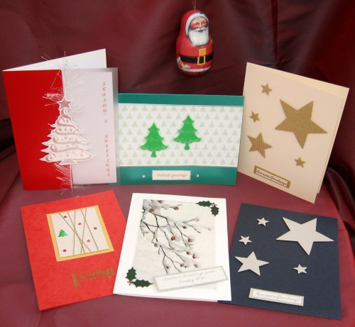 hand-made Christmas cards – Late Blooms