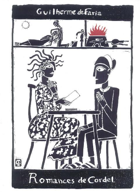 Capa do folheto  Romance da Vidência   Xilo e poema de Guilherme de Faria