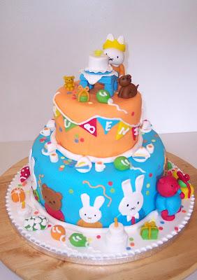 Top De Koekjesfee: verjaardagstaart Ruben 1 jaar @BY79
