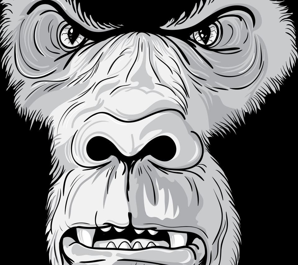Angry gorilla clipart
