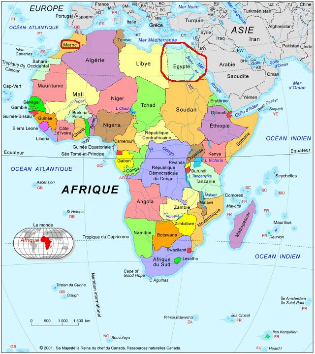 Carte Afrique Egypte.Cyroy En Voyage Cartes De L Afrique Et De L Egypte