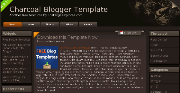 Best Brown Blogger Templates